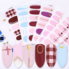 Detachable Full Cover Fake Nail Tips w/Glue Stickers Nail Art Stickers Decals