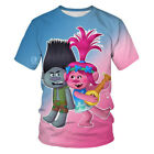 Women Men T-Shirt 3D Print Cartoon Hrarjuku Trolls Short Sleeve Tee Tops Unisex image