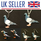 Pigeon Fancier Gifts - Large Keyring, Necklace, Earrings, Bird, Pierced, Racing