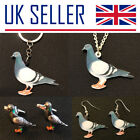Pigeon Fancier Gifts- Large Keyring, Necklace, Cufflinks, Earrings, Bird, Racing