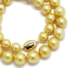 Golden South Sea Pearl 11-14mm Necklace SV Silver 90084411
