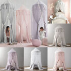 Kid Baby Bed Canopy Bedcover Mosquito Net Curtain Bedding Round Dome Tent Cotton image