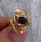 Lapis Lazuli Gemstone Ring in 14kt Rolled Gold wire wrapped