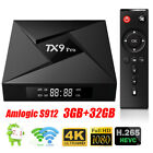 3GB+32GB TX9 PRO TV WIFI Amlogic Android 7.1 Octa Core Smart Dual 64Bit S912 Box