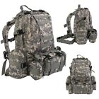 55L Army Tactical Backpack Rucksack Oxford Hiking Adventure Bag Day Packs Unisex