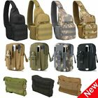 Men's Tactical Military Chest Pack Shoulder backpack Outdoor Travel Waist Bag