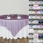 "6 pcs LARGE TABLE OVERLAYS 90"" Sheer Organza Wedding Party Catering Decorations"