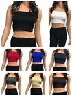 Seamless Spandex Crop Tube Top Strapless Tank Top ONE SIZE REG OR PLUS