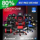 Alfordson Gaming Chair Office Seat Generous Padding Footrest Executive Racing