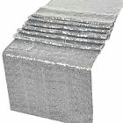 "Sequin Glitter Table Runner Cloth Wedding Banquet Party Decor 12""x72''/108""/118"""