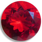 Lab Created Helenite Round Faceted Loose Gems Fine Cut AAA 4mm-11mm Red Orange