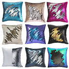 Sequins Pillow Cover Mermaid Glitter Case Waist Throw Sofa Cushion Home Decor