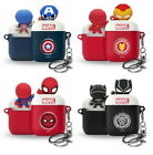 Marvel Genuine Figure Symbol Airpods Case Cover Skin With Keyring