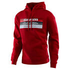 Troy Lee Designs Block SRAM Mens Pullover Hoody Red