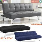 Futon Sofa Bed Sleeper Convertible Couch 3 Seat Foldable Full Size With Mattress