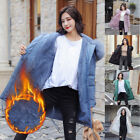 Women's Winter Warm Jacket With Fur Hood Long Down Warm Parka Quilted Coat S-XL