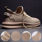 Mens Lace Up Knit Upper Soft Lining Anti-slip Sneakers Running Casual Shoes 32