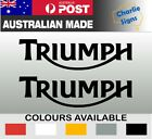 2x Triumph Motorcycle Motocross Helmet Decal Sticker Waterproof Cut Vinyl $7.5 AUD on eBay