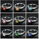 Kyпить Fashion Womens Silver Stainless Steel Biker Rings Solitaire Gemstone Jewelry на еВаy.соm