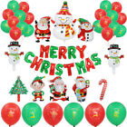 New Merry Christmas Balloons Santa Clause Snowman Tree New Year Party Decoration
