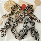 Fashion Leopard Rabbit Ears Knotted Hair Rope Bow Scrunchies Ponytail Hair Ring