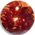 Lab Created Orange Sapphire Round Faceted Loose Gemstones Fine Cut AAA Quality