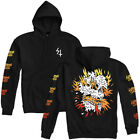 "Lurking Class by Sketchy Tank ""Inferno"" Pullover (Black) Men's Hooded Sweatshirt"