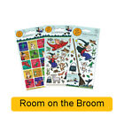 ROOM ON THE BROOM Fun Foil Stickers - Birthday Christmas Xmas Gift Stationery