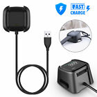 1/2x For Fitbit Versa2 Smart Watch USB Charging Cable Power Charger Dock Station