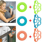 Finger Hand Exerciser Trainer Strength Wrist Forearm Resistance Band+Gripper Gym image