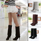 New Women Over The Knee Boots Pointed Toe Suede Sexy High Heels Shoes Size 34-43