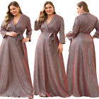 Ever-Pretty US Plus Size V-Neck Wrap Long Evening Prom Dress Celebrity Gown 7950