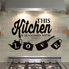 Wall Decal Home Sticker This Kitchen Is Seasoned With Love Home Kitchen Decor Us