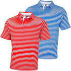 Bobby Jones Mens XH20 Banner Frame Stripe Jersey Golf Polo Shirt 57% OFF RRP