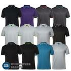 Mens Jacquard Contrast Polo Shirt Breathable Quick Dry Sports Golf Top New 7JCP