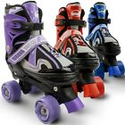 Eliiti Kids Quad Roller Skates for Girls and Boys Adjustable Size 10J to 6