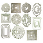 Kyпить QuicKutz Metal Nesting Cutting Dies Circle Square Oval Rectangle Buy More & $AVE на еВаy.соm