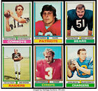 1974 Topps Football Cards Singles U-Pick EX $2ea. #1-250 FREE SHIPPING !!!! $2.0 USD on eBay