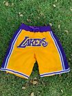 Los Angeles Lakers Throwback Summer League Just Don Men's Shorts Gold/Purple