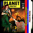 Planet Stories pulp Fiction collection, Science Fiction, Action, fantasy image