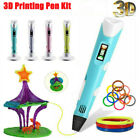 3D Printing Pen Drawing Crafts Kids Adults Children Art + 5M/10M PLA Filament FK
