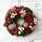 Christmas Drop Pendant Red Pine Cones Snow Wreaths White Berry Home Decoration