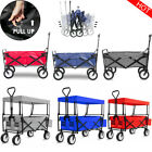 Foldable Pull Along Wagon Cart Trolley Festival Camping Wheels Garden Transport