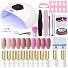 BORN PRETTY Nail Art Full Kit UV Gel Polish LED Dryer Lamp Sticker Nail Tool Set