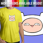Adventure Time Funny Derpy Face Finn Head Cartoon Unisex Mens Women Tee T-Shirt