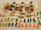 Lot of Plastic Cowboys Indians Wagon Carriage *As-Is* Made in China