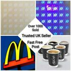 WHOLESALE Mcdonalds  COFFEE Stickers Loyalty Vouch cards ULTRAVIOLET FAST DELIVE