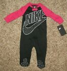 NIKE Baby Coverall Girl Footed Outfit Pajama Newborn 3 6 9 Months