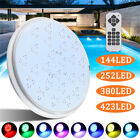 144/252/380/423LED RGB 7 Color Swimming Pool SPA Light Underwater Lamp + Remote