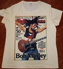 Bob Marley Rollingstone T-shirt. Available In Men's, Ladies and Youth sizes.  image